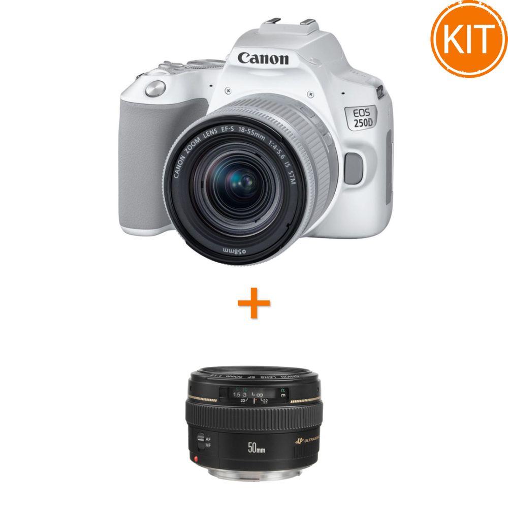 Kit-Canon-EOS-250D-cu-Obiectiv-EF-S-18-55mm-IS-STM-Alb---Canon-EF-50mm-Obiectiv-Foto-DSLR-F1.4-USM